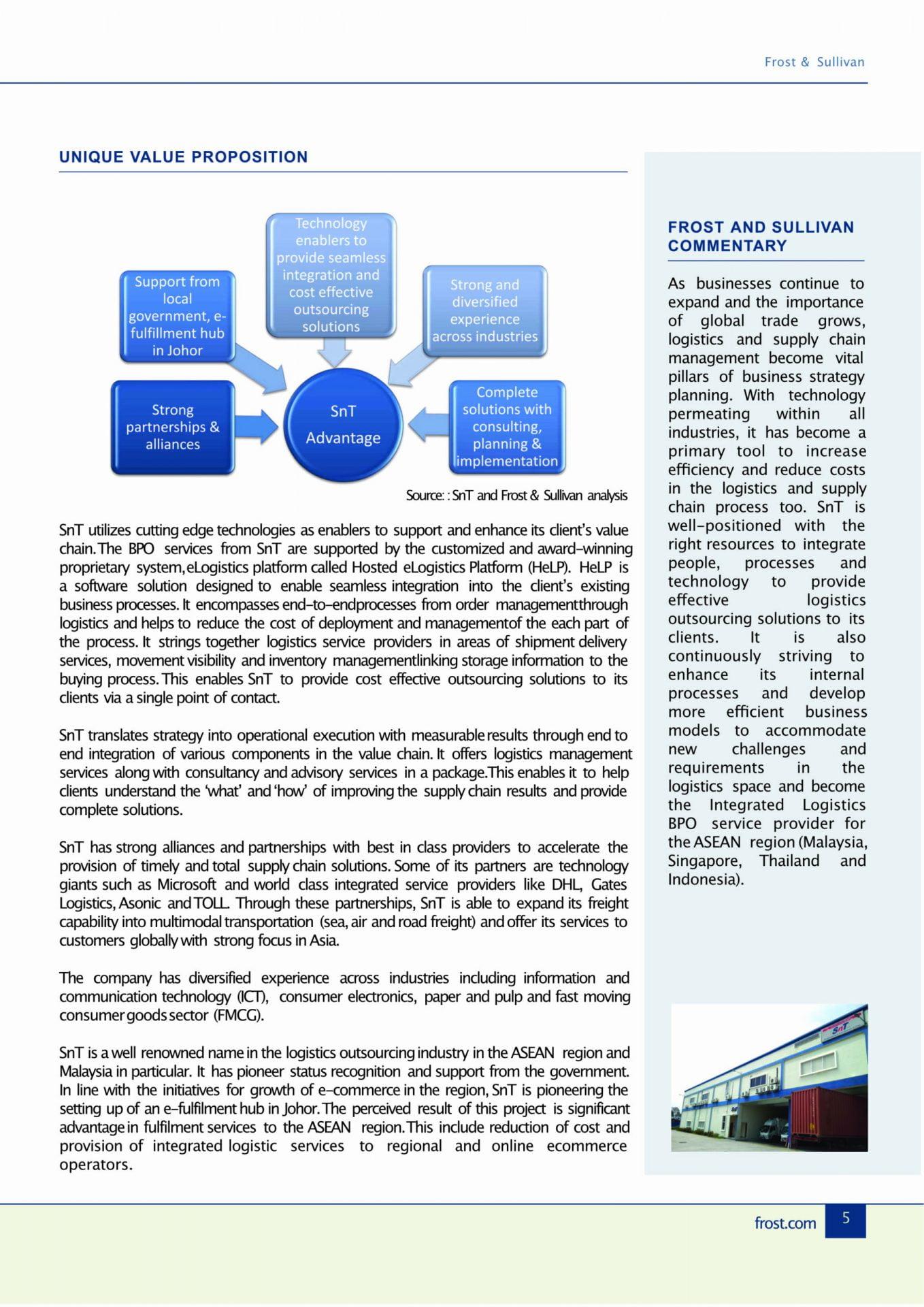 Efficiently handled high goods traffic during peak sales season